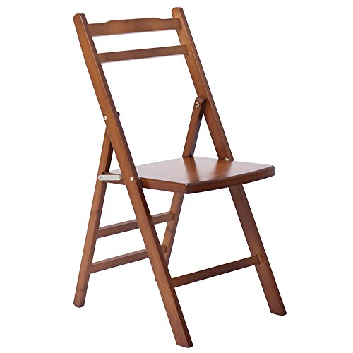 Folding chair / folding computer chair / casual backrest conference chair /Nanzhu solid wood office chairs /Small chair /Brown flat folding chair /Home Dining Chair / by Folding Chair