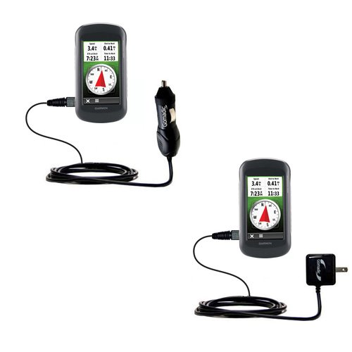 The Essential Gomadic Car and Wall Accessory Kit for the Garmin Montana 600 650 650t - 12v DC Car and AC Wall Charger Solutions with TipExchange