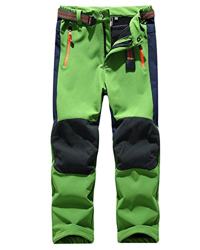 ZongSen Girl Waterproof Winter Green Walking Breathable Hiking Boy Warm Outdoor Kids Trousers rOnrgT