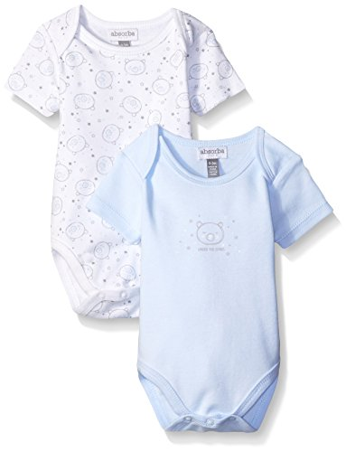 ABSORBA Baby-Boys Two Pack Short Sleeve Bear Body Suit