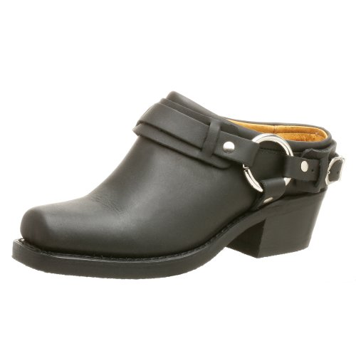 FRYE Women's Belted Harness Mule, Black, 5.5 M US by FRYE