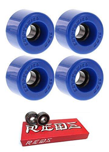 ストレッチ引き潮カウンターパート55 mm Kryptonics Wheels Star Trac Wheels with Bones Bearings – 8 mm Bones Super Redsスケート定格ベアリング – 2アイテムのバンドル
