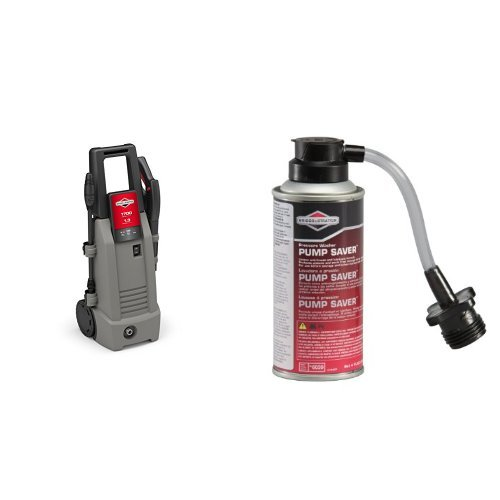 Briggs & Stratton 20654 Electric Pressure Washer, 1700 PSI 1.3 GPM with Instant Start/Stop System and Pump Saver - 4 Oz.