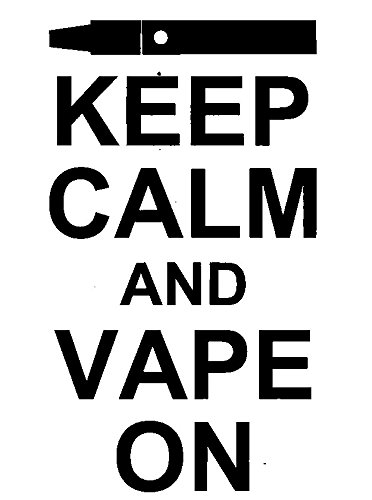 Keep Calm And Vape On - Vaping Electronic Cigarette Rubber Stamps custom  stamps rubber Rubber Stamps