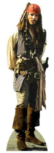 JACK SPARROW LIFESIZE CARDBOARD CUTOUT STANDEE STANDUP Johnny Depp Pirates of the Caribean by Disney by Disney