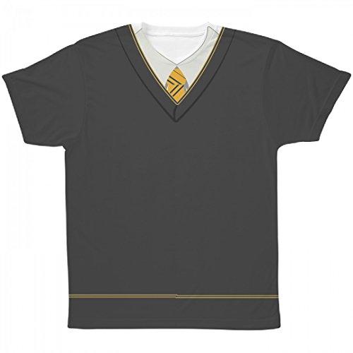 Hogwarts School Uniform Costumes (Yellow Wizard School Uniform: All Over Printing Unisex SubliVie Tee)