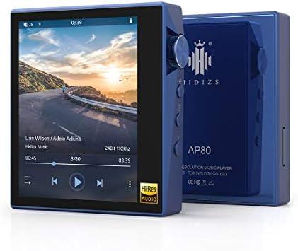 HIDIZS AP80 Ultraportable HiFi Music Player Bluetooth MP3 Player High Resolution Audio Player (Blau)