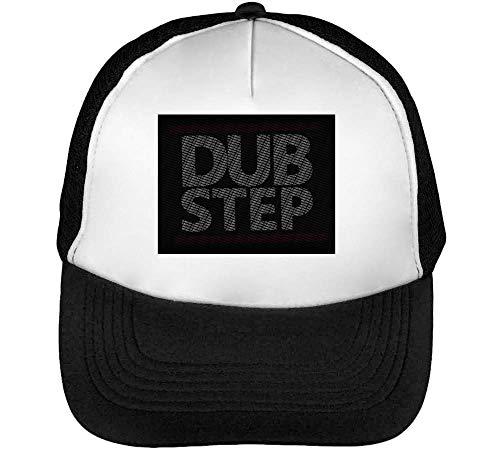 Beisbol Music Dubstep Gorras Negro Logo Snapback Blanco Hombre Rave w7SCYqpnxU