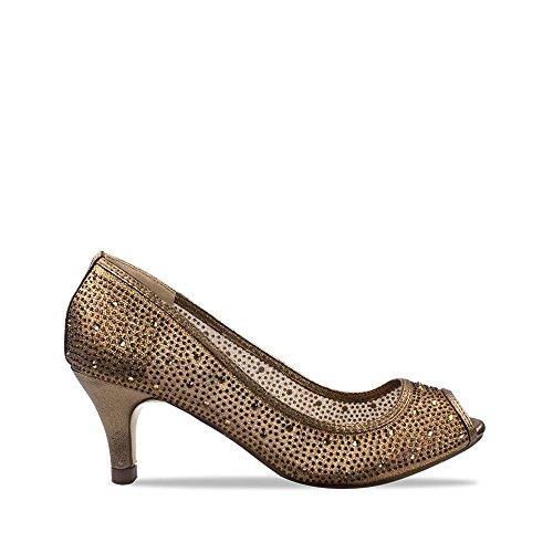 Tacón Con Mujer Miss Diva Zapatos Marrón f6qxH7