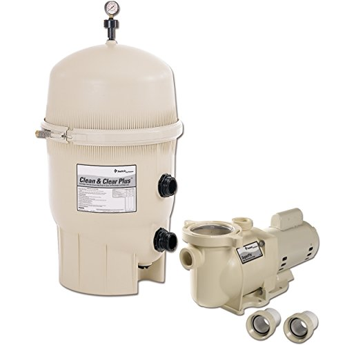 Pentair Clean and Clear Plus 320 Square Foot In Ground Cartridge Pool Filter System - 160340