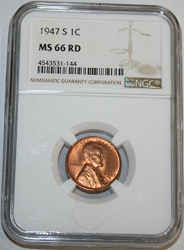 1947 S Lincoln Cent MS66 NGC
