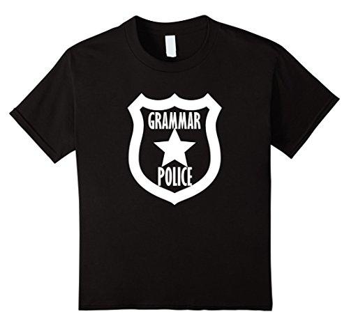 Kids Funny Grammar Police Sarcastic Halloween Costume T Shirt 8 Black - Grammar Girl Costume