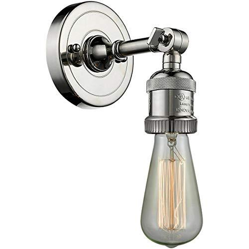 Plc Polished Sconce - Innovations Sconce Light Bare Edison Bulb Sconce Polished Nickel 202PN Steampunk
