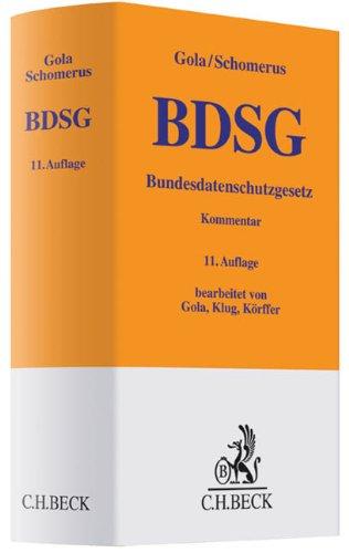 BDSG Bundesdatenschutzgesetz