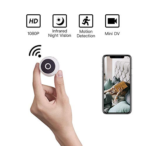 Mini Spy Camera Wireless Hidden WiFi with Audio for Home Security System Baby Monitor HD 1080P Small Nanny Cam with Night Vision and Motion Detective for Home and Office