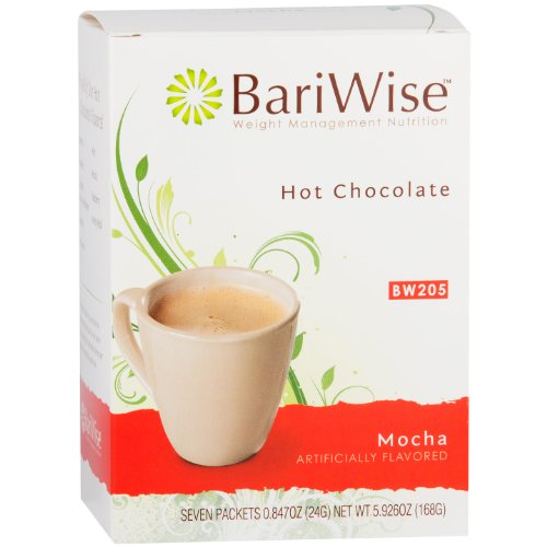Cocoa Hot Mocha (BariWise High Protein Hot Cocoa - Instant Low-Carb, Low Calorie Hot Chocolate Mix with 15g Protein - Mocha (7 Count))