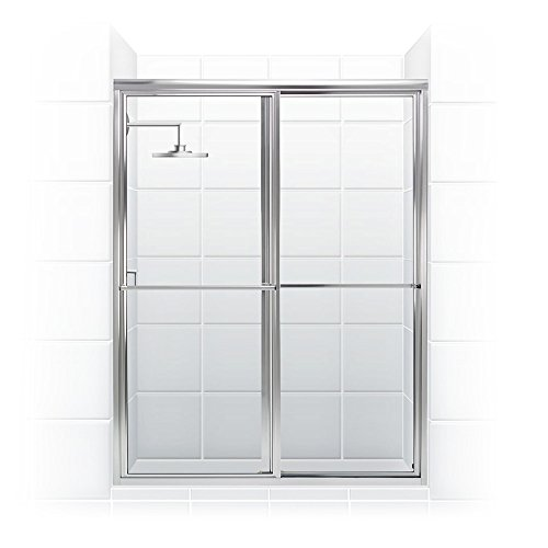 Coastal Shower Doors Newport Series Framed Sliding Shower Door with Towel bar In Clear Glass, 42
