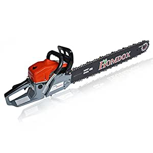 "Homdox 52CC 2 Strokes Gas Powered Chainsaw 20"" Handheld Chain Saw for Farm, Garden and Ranch"