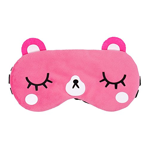 kimkoo Sleep mask &Super Soft Silk Eye Mask for Sleeping,Blindfold for women and kids (Pink)