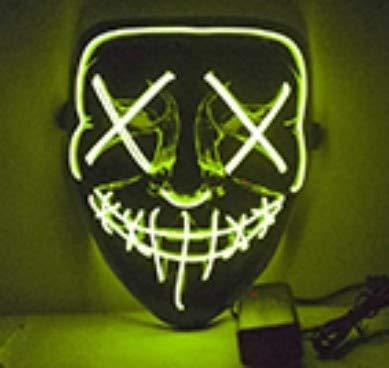 Máscara de Halloween Vmangweet Máscaras de Fiesta con luz ...