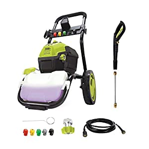 Sun Joe SPX4600 3000 PSI Max 1.30 GPM Max High Performance Electric Pressure Washer, w/ 5 Quick-Connect Tips, Detergent…