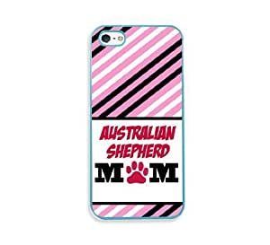 Australian Shepherd Mom Aqua Silicon Bumper For Ipod Touch 4 Phone Case Cover - Fits For Ipod Touch 4 Phone Case Cover