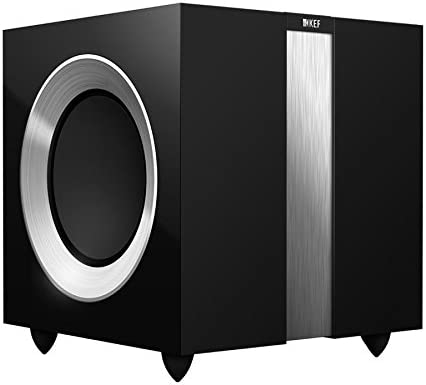KEF R400GB R400b Front Firing Powerful Subwoofer – High Gloss Piano Black Single