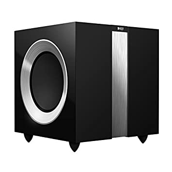KEF R400GB R400b Front Firing Powerful Subwoofer - High Gloss Piano Black  (Single)