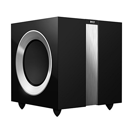 KEF R400b Front Firing Powerful Subwoofer - High Gloss Piano Black (Single) by KEF