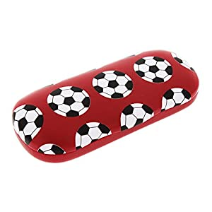 Sports Themed Hard Shell Eyeglass Case For Boys And Girls, Soccer (Football)