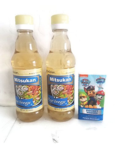 Mitsukan Rice Vinegar 12 oz (Pack of 2) plus tissues pack