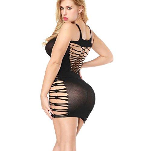 Juego Sexy lencería ronamick Sexy lencería Mujer Malla Hollow Babydoll Vestido erótico Lencería Mujeres Ropa Interior, Negro: Amazon.es: Bricolaje y ...