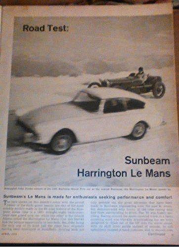 1962 SUNBEAM HARRINGTON LeMANS GT Coupe VINTAGE NON-COLOR ROAD TEST - CAR & DRIVER - USA - GREAT ORIGINAL !! (CD462)