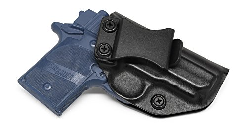 Concealment Express IWB KYDEX Holster: fits Sig Sauer P938 - Custom Fit - US Made - Inside Waistband - Adj. Cant/Retention (BLK, Left)