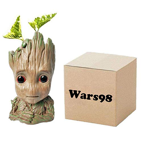 The Newest Groot Flower Pot Baby Planter Cartoon Cute Model Pen Container Action Figures Toy Best Christmas Gift 5.5