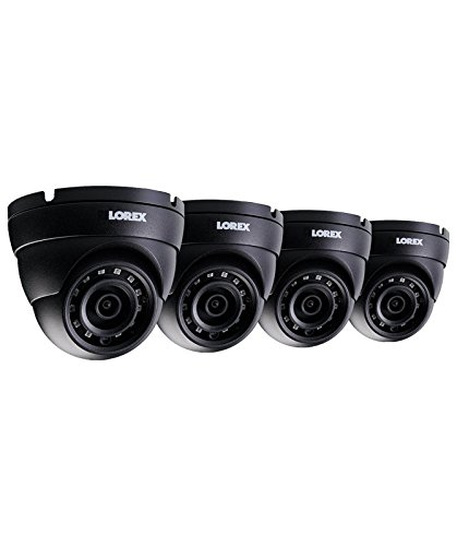 Lorex LNE4422W-4PK 4-Pack 4MP IP HD Dome Camera with Color Night Vision