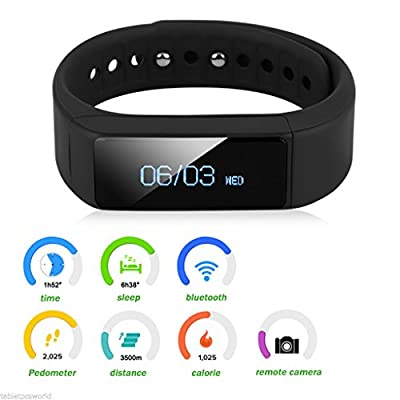 Trend United i5 Plus Bluetooth Smart Bracelet Smart Watch Sports Fitness Tracker For Smartphone Pedometer Tracking Calorie Health Sleep Monitor Free Fitness App for Android & IOS