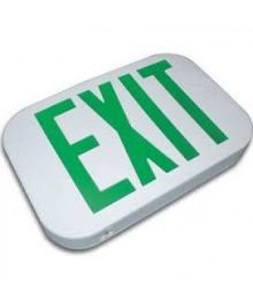 Exitronix ILX-G-EM-WH Green LED Double Sided exit Sign