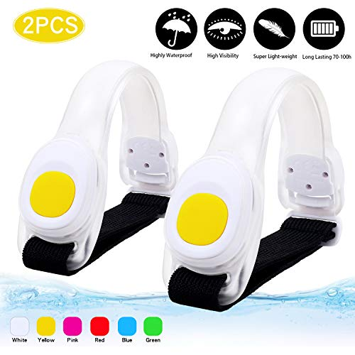 Running Lights for Runners,Super Waterproof LED Armband with Extra Batteries Reflective Gear for The Safety of Runners,Climbers,Athletes,Dog Walking (Yellow)