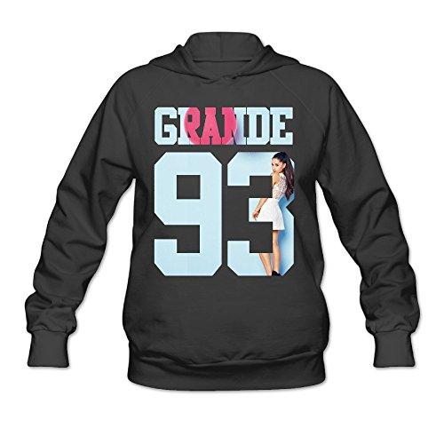 YQUE Women's Ariana Singer Grande Cute Cartoon Poster Hoodies Hooded Sweatshirt Size M Black (Juicer Singer)