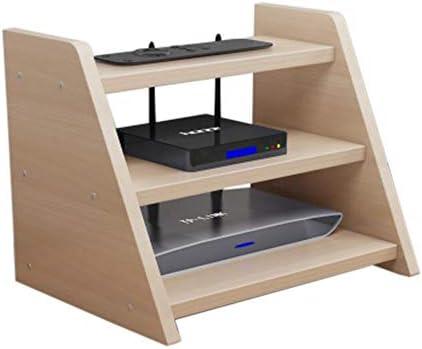 Xyanzi-DVDラック ワイヤレスWIFボックスセットトップボックスシェルフルータ収納ボックスマルチメディアアクセサリー3層、5色 機能的な収納棚 (色 : A)