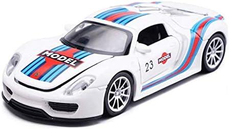 YN モデルカー ホワイトモデルカーポルシェ918Sカーモデル1:32合金モデル子供車のおもちゃモデル静的モデルシリーズギフト家の装飾 ミニカー