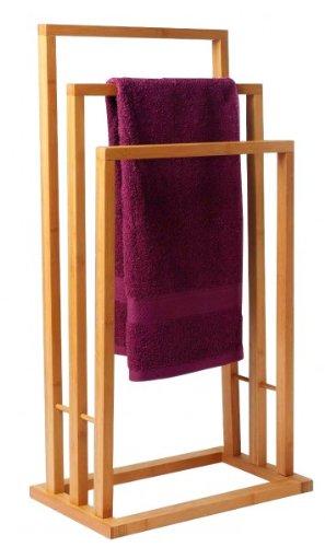 Handtuchhalter Holz bambus handtuchständer edel handtuchhalter holz 3 handtuchstangen