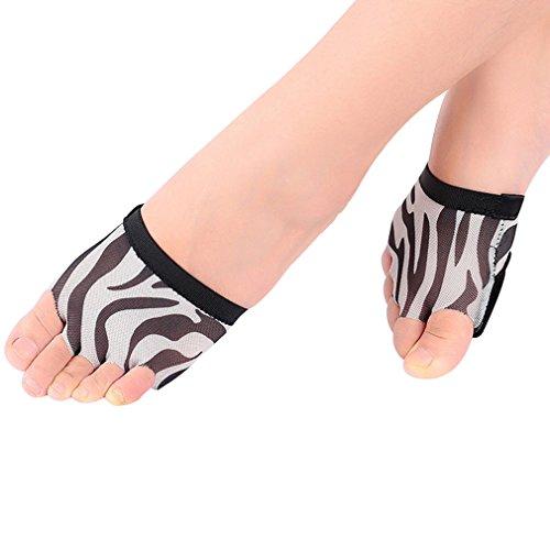 UPRIVER GALLERY Lyrical Ballett Fuß Thong Moden Tanz Pfote Pads Schuhe Fitness Weiß