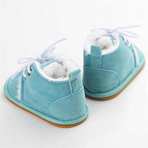 Estamico - botines de bebé de suela de goma de invierno beige beige Talla:6-12 meses azul
