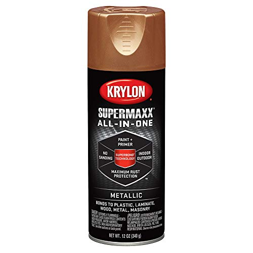 Krylon K08992000 SUPERMAXX All-In-One Spray Paint, Copper Metallic, 12 Ounce (Copper Paint Exterior)
