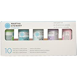 Martha Stewart Crafts Multi-Surface Satin Acrylic Craft Paint Set, 32187 (10 Colors)