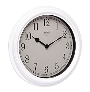 Balance 776933 - Reloj de pared (AA, Color blanco, De plástico, Vidrio, 60 x 360 x 360 mm)