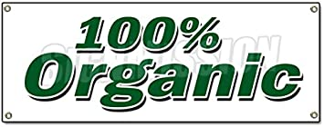 Organic Banner Sign Vegetarian Vegan Gmo Produce Healthy Fruit Veg Office Products Amazon Com