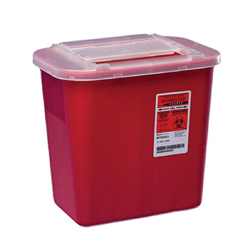Sharps Container 2 Gallon Red, Clear Lid - 31142222 ()